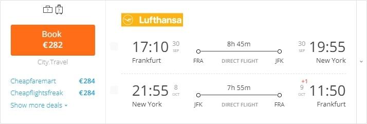 wholesale dealer 89c74 0836a Frankfurt – New York – Frankfurt Frankfurt – San Francisco – Frankfurt