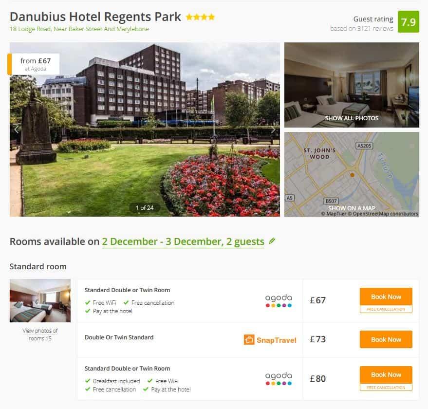 London Hotel Deal