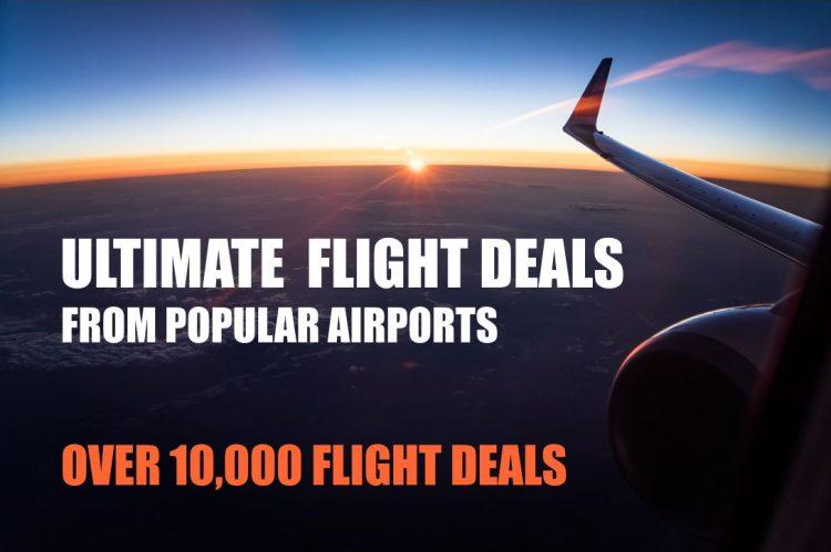 Ultimate flight deals. Over 10.000 flight deals from popular airports worldwide
