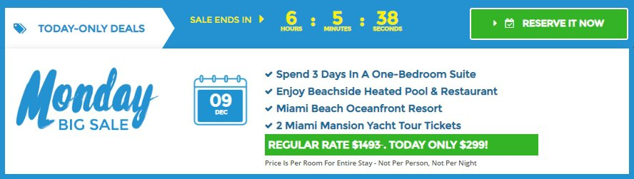 4* Hotel on Miami Beach for only US$ 150 / night / suite (80% off) 4